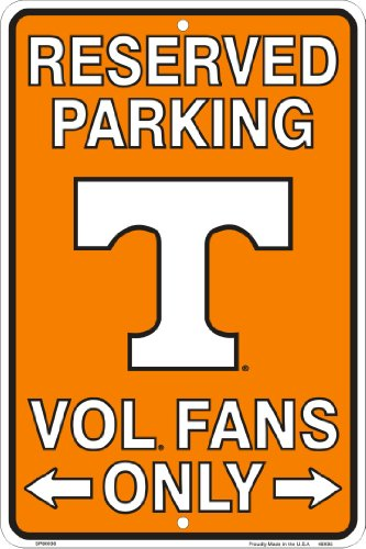 Tennessee Vols Fans Reserved Parking Sign Metal 8 x 12 (Fans Reserved Parking Sign)