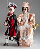 Baroque Couple Marionettes - Czech Handmade String Puppets