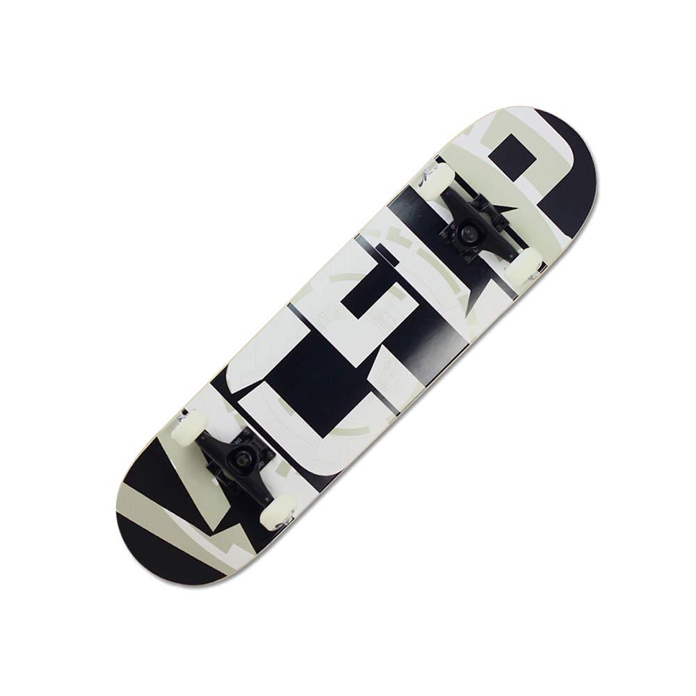 新しいコレクション ZX VIC (色 専門家 メープル 4ラウンド スケートボード letters 初心者 スケートボード 子供 アダルト 旅行 ダブルチルト スクーター (色 : Hot dogs) B07H21HG78 Black and white letters Black and white letters, ウェリントン:85dd9241 --- a0267596.xsph.ru
