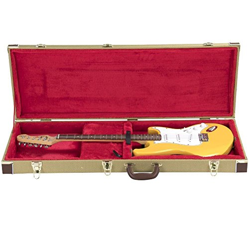 yaheetech deluxe electric guitar case tweed gold buy online in uae musical instruments. Black Bedroom Furniture Sets. Home Design Ideas