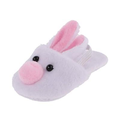 MagiDeal Zapatos Lindos de Deslizadores de Felpa de Conejo Blanco para 18 Pulgadas Muñecas Americanas Chica: Juguetes y juegos