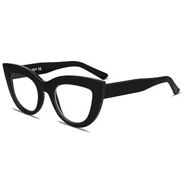 6ef32333639 SOJOS Blue Light Blocking Glasses Retro Vintage Cateye Eyeglasses for Women  Plastic Frame SJ5025 with Black
