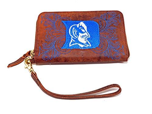 GAMEDAY BOOTS NCAA Duke Blue Devils Women's Dukeduke Wristlet, Brass, 8 x 5 1