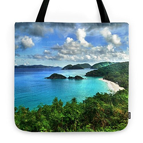 "Society6 Caribbean Beach Trunk Bay, St. John Tote Bag 18""..."