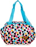 BUILT BYO Nosh Designer Neoprene Insulated Lunch Bag, Dot Candy Pink