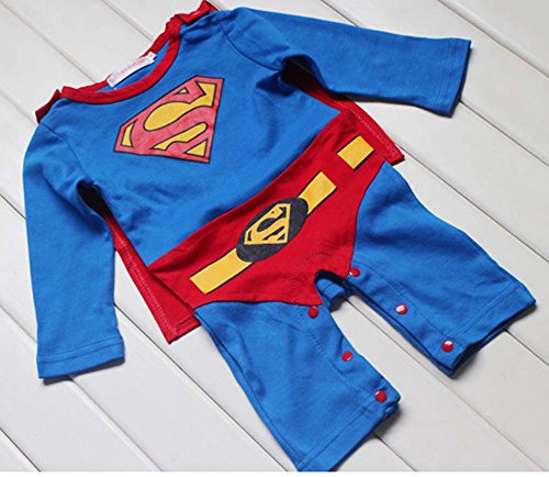 superman+costumes Products : Peachi Superman Superbaby 1 piece Baby Toddler Infant Rompers Unisex 12m-3T
