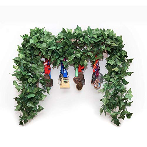 Yebazy 5 Pack (40 Foot) Big Atificial Ivy Leaves Fake Ivy Greenery garlands Hanging Plant Wedding Party Garden Outdoor Home Decor -