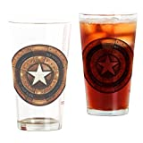 CafePress - Captain America Steampunk Shield - Pint Glass, 16 oz. Drinking Glass