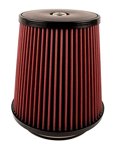 Airaid 700-498 Universal Clamp-On Air Filter: Round Tapered; 6 in (152 mm) Flange ID; 9 in (229 mm) Height; 9 in (229 mm) Base; 6.844 in (174 mm) Top
