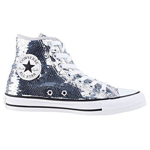 Converse Unisex Chuck Taylor All Star Sneaker Argento / Bianco / Nero