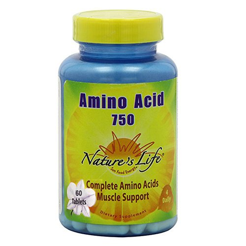 Nature s Life Amino Acid Tablets, 750 Mg, 60 Count