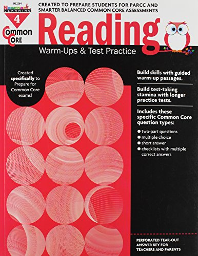 Common Core Reading Warm-Ups And Test Practice Grade 4