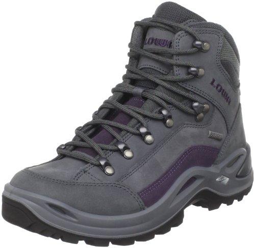 Lowa Women's Renegade GTX Mid Hiking Boot,Blue Grey/Prune,10