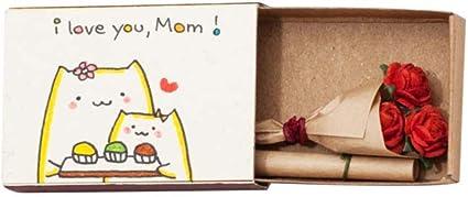 Tarjetas de felicitación, hecha a mano Cajas de cerillas, pequeña sorpresa en la caja de cerillas., divertido, freches regalo de 3 x U Matchbox, color Anlass - Rosen für Mama: Amazon.es: Oficina