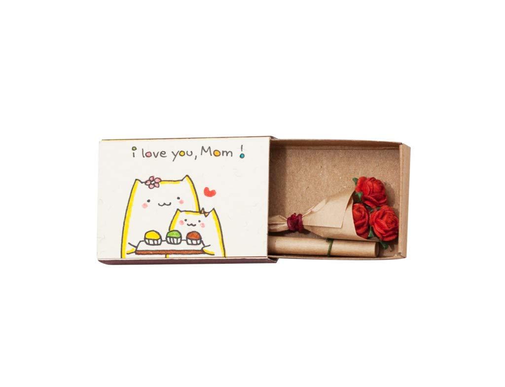 Tarjetas de felicitaci/ón color Liebe divertido peque/ña sorpresa en la caja de cerillas freches regalo de 3/x U Matchbox hecha a mano Cajas de cerillas Dackel