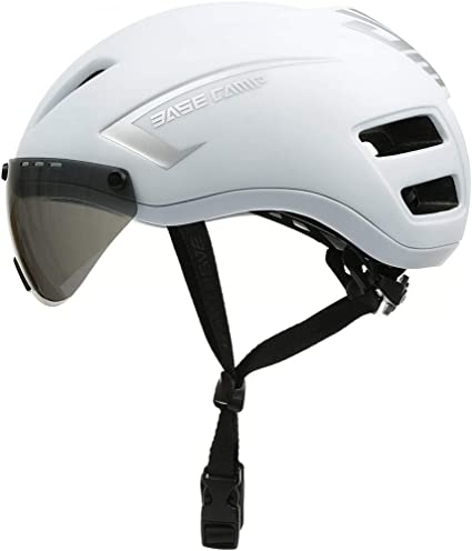Base Camp Road Bike Helmets with Removable Eye Shield Visor for Adult Cycling