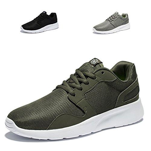 296978d96f3 Needbo Heren En Dames Unisex Runnning Schoenen Lichtgewicht Flexibele  Atletische Sneakers Sport Trail Schoen Donkergroen