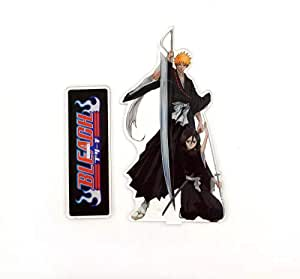 ichigo and rukia from Anime bleach stand figure model  plate-14CM