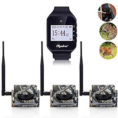 Olymbros Alarm Kit -Home Security System & Outdoor Animals Alarm System Kit with Three Alerts Optional Sound/Vibration/Visual Professional Monitoring Also Good Used for Hunting/Camping Multi-Function