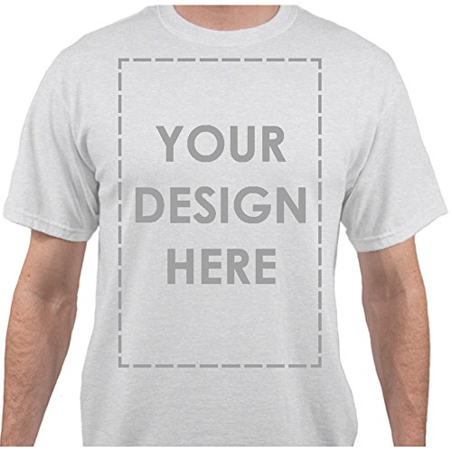 Add Your Own Custom Text Name Personalized Message Image Heather Ash T-Shirt - 2XLarge