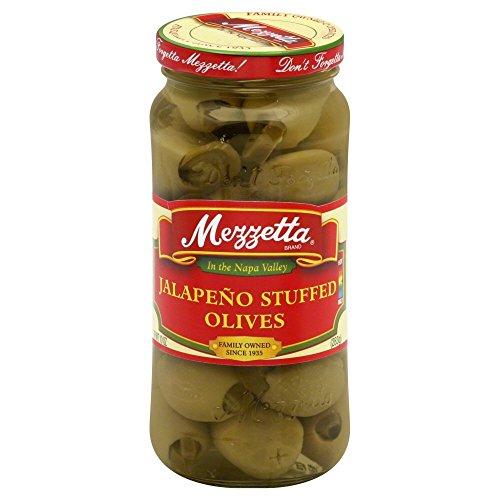 Mezzetta Jalapeno Stuffed Olives 10.0 OZ(Pack of 4)