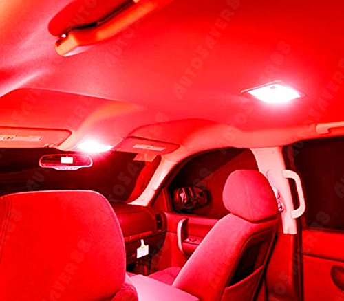 Autosaver88 10x Festoon 42mm 8 Smd Red Interior Led Dome Map Light Bulb 6413 569 211 2 Get