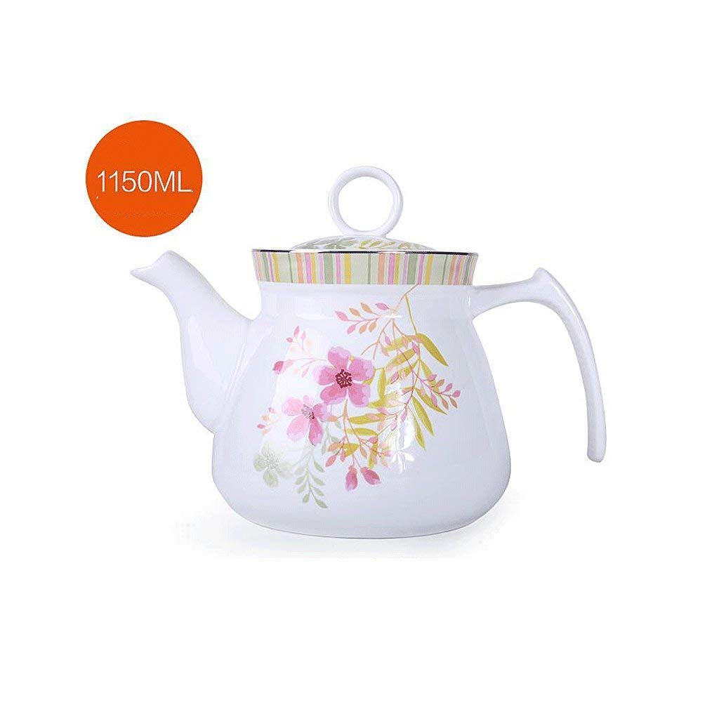 Exquisite Tea Cups Saucers Set Set Coffee Cup Ceramics Teapot Heat-Resistant High Capacity Single Pot Cold Water Household Large Cold Water Bottle Hot Water Bottle Tea Pot 1125ML UOMUN by Kinue