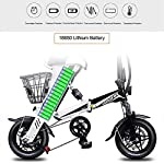 RPHP-Smart-Bicicletta-elettrica-Pieghevole-Mini-Bici-elettrica-per-Adulti-12-Pollici-36V-8AH-250W-Doppio-Freno-a-Disco-Scooter-da-25-kmh