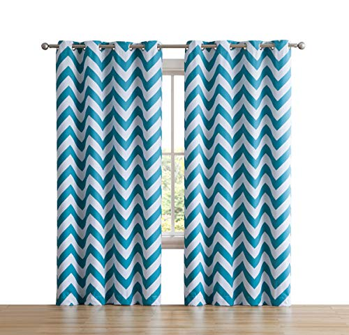 Hlc Me Chevron Print Thermal Insulated Room Darkening