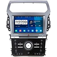 Rupse For 2013 2014 Ford Explorer With Manual Air-condition 8 inch HD Android 4.4.4 Car DVD Player GPS Navigation Stereo