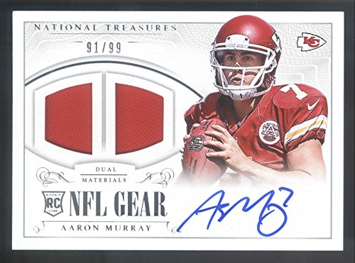 2014 Treasures Rookie NFL Gear #AM Aaron Murray Dual, used for sale  Delivered anywhere in USA