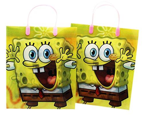 Large Assorted Spongebob Squarepants Gift Bag Set for Girls (2 Piece)]()
