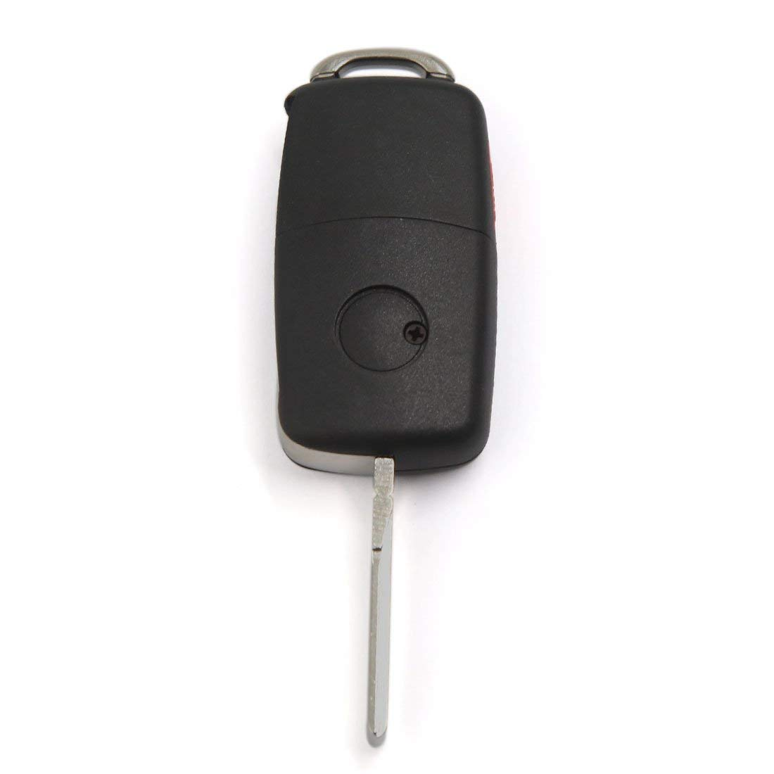 Autoly 3+1 Buttons Keyless Fob Case Uncut Blade Remote Fob FILP for VW Volkswagen Jetta Beetle 2pcs Guangzhoulibomaoyiyouxiangongsi