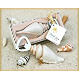 """""""Shore Memories"""" Sea Shell Bottle Opener with Thank you Tag - Baby Shower Gifts & Wedding Favors (Set of 72)"""