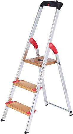 GLJJQMY Escaleras portátiles Escalera Plegable de Aluminio Escalera multifunción de Tres Pasos para el hogar Ampliación del Engrosamiento Escalera móvil Interior (Color : B): Amazon.es: Hogar