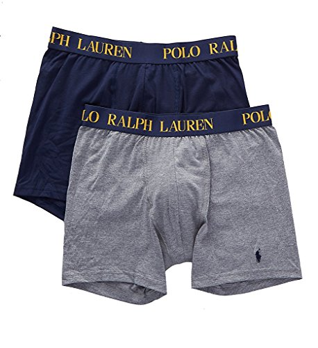 9cbc7e367f70e5 Polo Ralph Lauren Cotton Comfort Blend Boxer Briefs - 2 Pack (LPB2P2) S