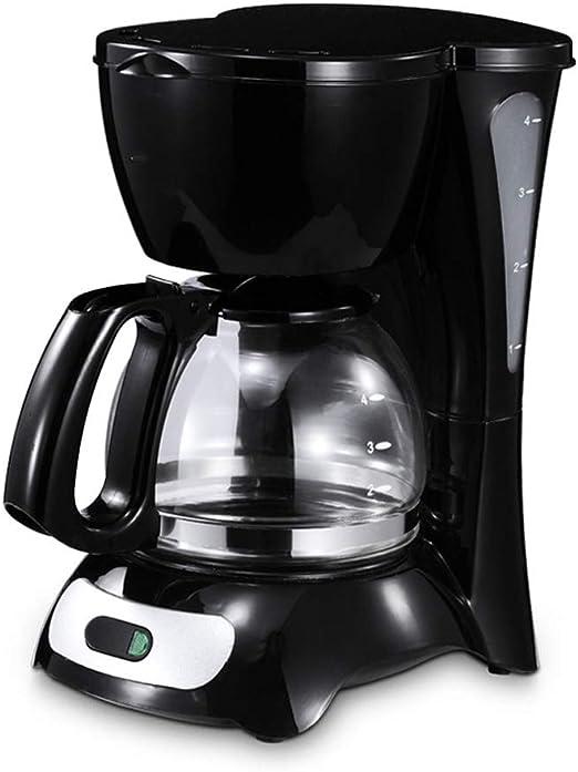 Máquina de café de filtro, cafetera programable de 600 ml con función antigoteo, 650 W, negro: Amazon.es: Hogar
