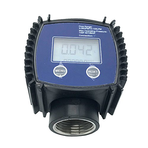 "1"" Flow Water Sensor Meter+Digital LCD Display 1 inch Stainless Flow Meter Methanol/Diesel/Gasoline/Kerosene Liquid/Water/Turbine/Oil flowmeter Internal Thread"
