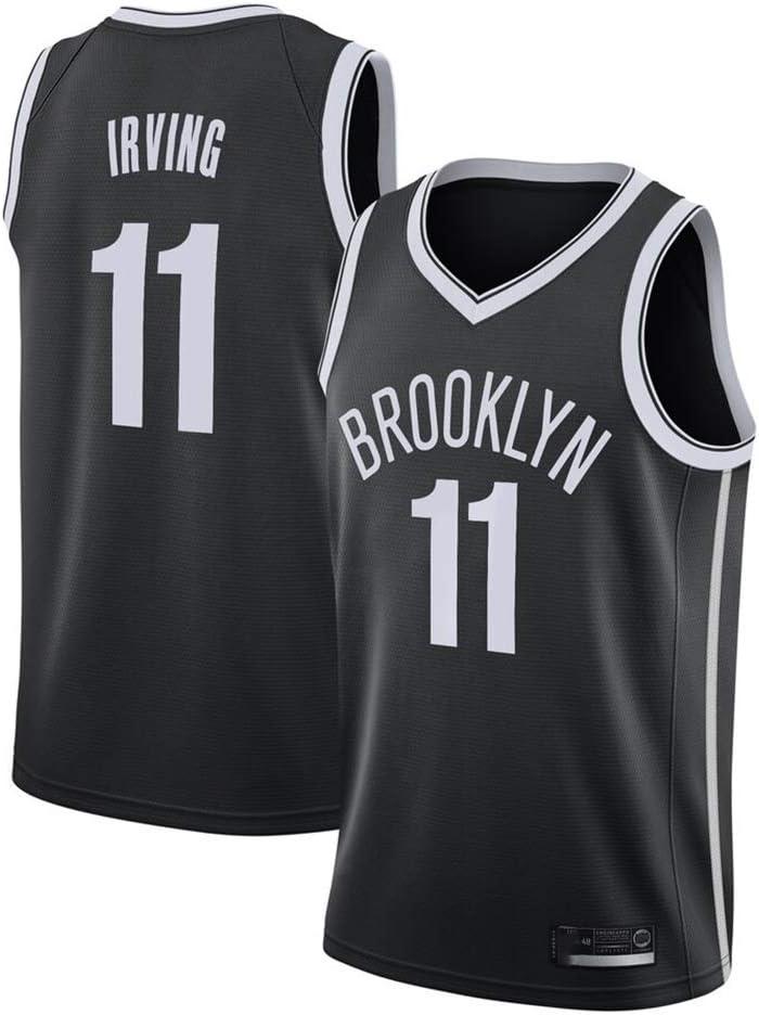 GRYUEN Hommes Femme Brooklyn Nets 11# Irving Maillot T-Shirt de Basket-Ball Uniforme de Basket-Ball Top Brod/és