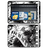 Piano Pizazz Design Protective Decal Skin Sticker (High Gloss Coating) for Amazon Kindle Fire HDX 7 inch (released 2013) eBook Reader
