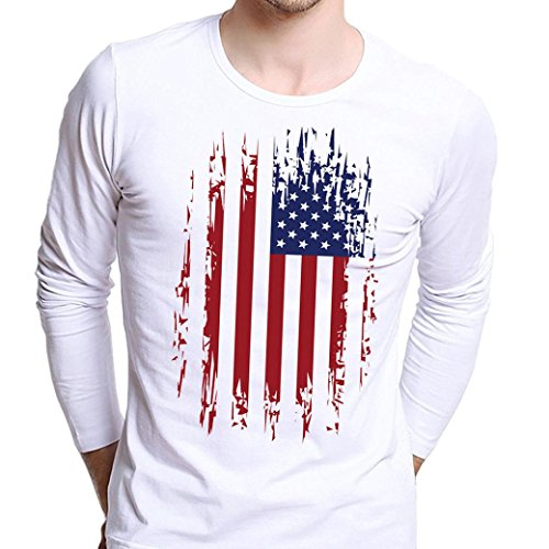 Men Blouse  Neartime Men Plus Size Printing Tees Shirt Long Sleeve T Shirt  L  H