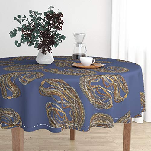 Roostery Round Tablecloth - Niihau Shells Hawaii Native Hawaiian Indigenous by Honoluludesign - Cotton Sateen Tablecloth 90in
