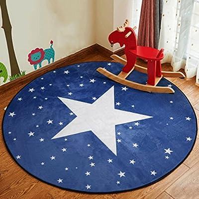 Alfombrillas alfombrillas de cesta redonda de alfombra sala de dibujos animados niños manta para salón o dormitorio mesilla de noche mesilla de noche mesa ...