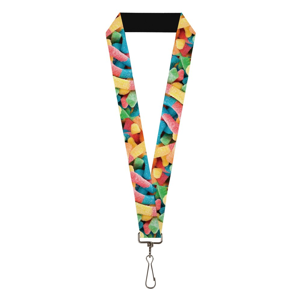 Buckle-Down Mens Lanyard-Sour Worms Multicolor Standard