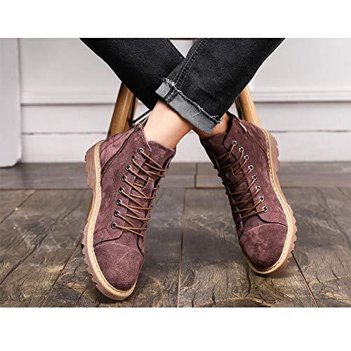 Size Bottes Véritable Chaussures uk6 5 À Wine Cuir Mâle De couleur Ff Red Hauts cn40 Eu39 En Talons Zhongbang Travail wIXqTngZ