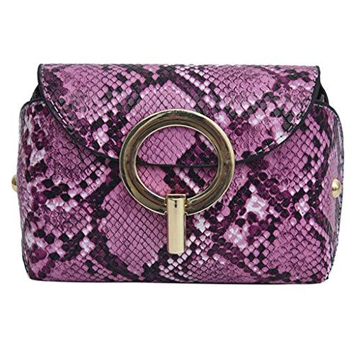 (LiLiMeng Women Outdoor Hasp Serpentine Messenger Bag Chest Bag Waist Bag Phone Bag)