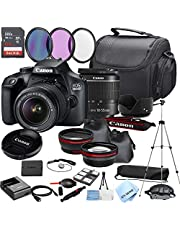 $429 » Canon EOS 3000D (Rebel T100) DSLR Camera with 18-55mm Zoom Lens + 64GB Memory + Lenses, Filters, Case,Tripod, and More(30pc Bundle)