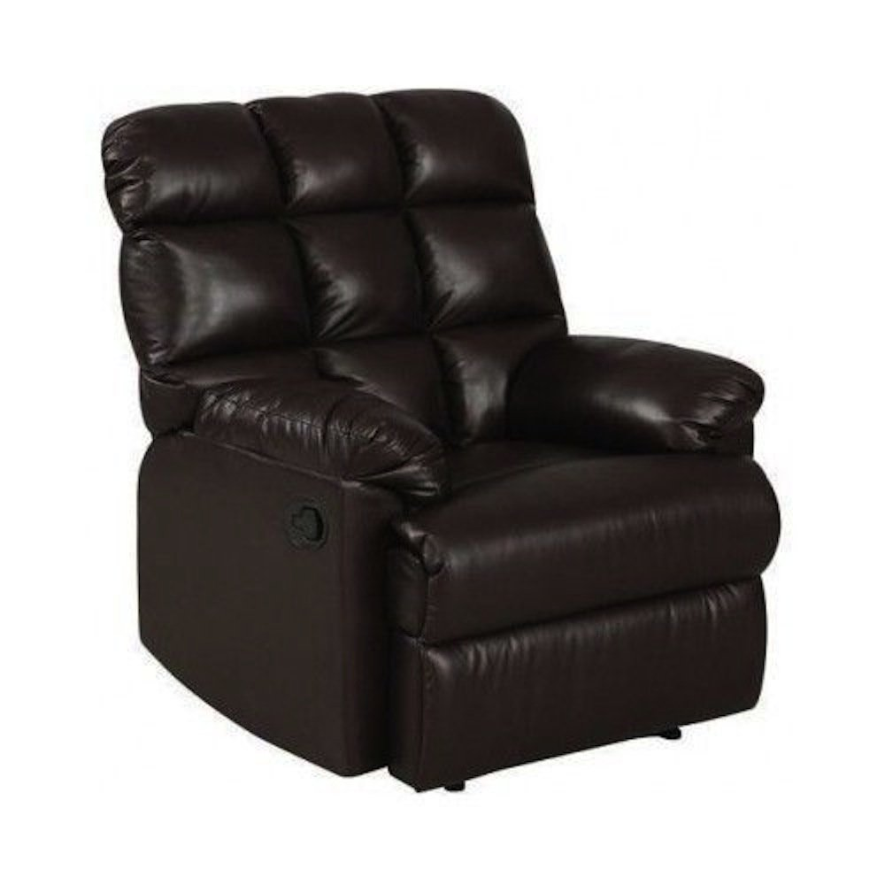 Amazon.com Leather Recliner Chair a Large Comfort Armchair Overstuffed Wall Hugger with Biscuit Ultra Comfort Back for Living Room in Black Brown on Sale ...  sc 1 st  Amazon.com & Amazon.com: Leather Recliner Chair a Large Comfort Armchair ... islam-shia.org