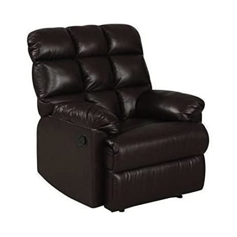 Leather Recliner Chair a Large Comfort Armchair Overstuffed Wall Hugger with Biscuit Ultra Comfort Back for  sc 1 st  Amazon.com & Amazon.com: Leather Recliner Chair a Large Comfort Armchair ... islam-shia.org