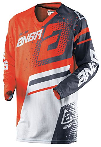 Answer Racing A18 Elite Men's Off-Road Motorcycle Jerseys - Orange/Grey/Large